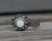 Wandering Eye Ring oOo Sterling Silver and Ocean Jasper