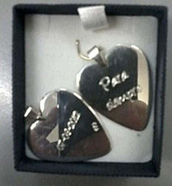Heart Pick, sterling, romantic, music, woman, man,men, women, valentine, romantic, valentine, music, Father's Day, Anniversary, dad
