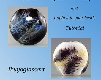 Tutorial: How to make a feather twisty and apply it to your beads by Ikuyo Yamanaka