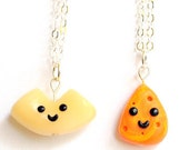 Best Friend, Best Friend Necklaces, Clay Best Friend Necklaces, Friend Necklaces, Macaroni and Cheese Necklaces