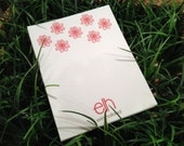 Personalized Notepad 4.25x5.5 style: Elh red flower