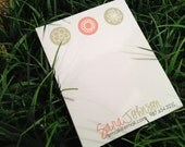 Personalized Notepad 5.5x8.5 style: Sara Johnson