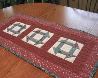 Teal and Rust Table Topper
