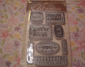 Seriously Hero Arts Art of the Card Clings foam-mounted Stamp 8 pieces