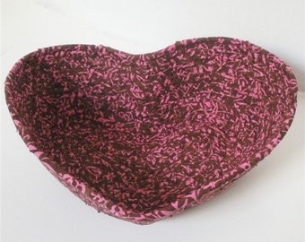 Pink and Chocolate Heart Bowl