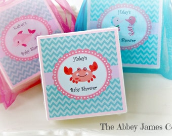 Baby Shower Favors, Beach Shower Favors, Under the Sea Baby Shower, set of 12 soap favors