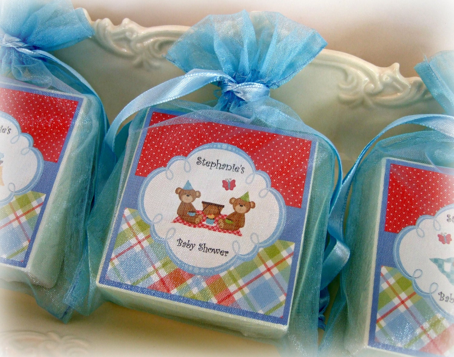 Baby Shower Favors For Twins ~ Twins baby boy shower favors soap by