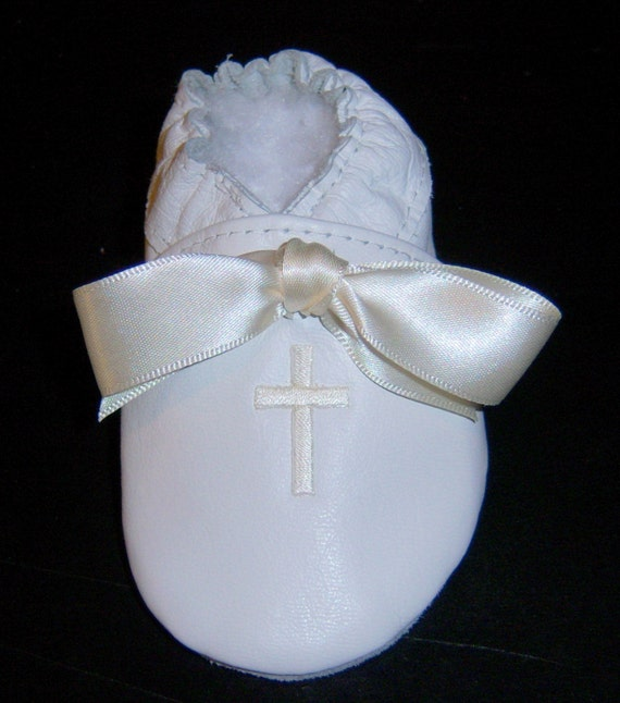 baby girl baptism shoes white leather personalized baby shoes