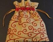 Machine Embroidered Gift Bag / Party Favor Bag / Hostess Bag