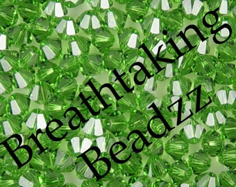 CLEARANCE Swarovski Beads Crystal Bead 24 Fern Green 6mm Bicone 5328 Many Colors In Stock,os