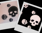 AWESOME Black White Skull Stretch Lycra Knit Quality Fabric BTY, in 2 colors