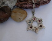 Family Birthstones Argentium SterlingSilver Star of David pendant