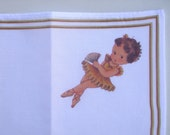 Yellow Ballerina Printed Handkerchief