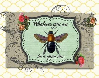 Digital Art Print, Art Print, Collage Print, Bee