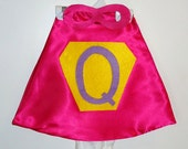Personalized Super hero cape with inital  / baby cape/ SUPER GIRL  onesie WITH matching mask