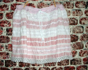 "Tattered Fabric Cotton Skirt from ""Pretty in Plus"" This Size fits most"