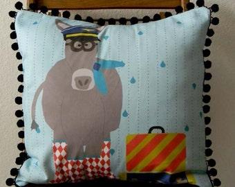 DIY Pillow Panel - Aviator Donkey