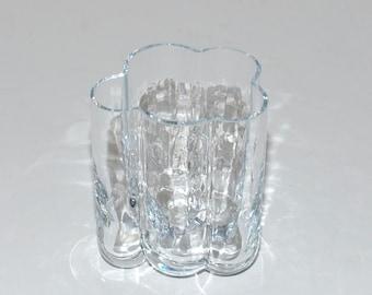 Vintage  Sea Glass Sweden Pauline Glass Vase