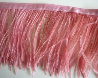 PICCOLO OSTRICH  FRINGE / English Rose Pink / 362 / On Sale
