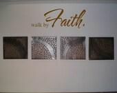 Wall Decal Wall Sticker Walk by Faith Wall Decal/Wall Sticker/Wall Tattoo