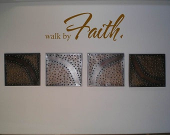 Wall Decal Wall Sticker Walk by Faith Wall Decal/Wall Sticker/Wall Tattoo