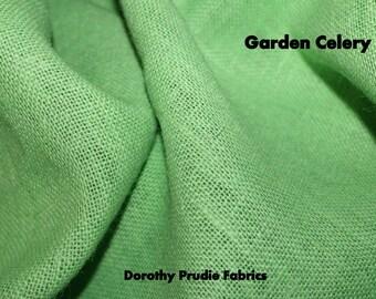 Clearance Last Piece BURLAP GARDEN CELERY Green colored Sultana Burlap Fabric 1/2 Yard