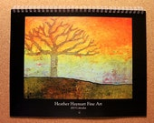 2013 Wall Art Calendar with 13 images of Heather Haymart original paintings