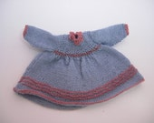 Dollhouse Miniature 1:12 Scale Hand Knit Dress for Young Girl