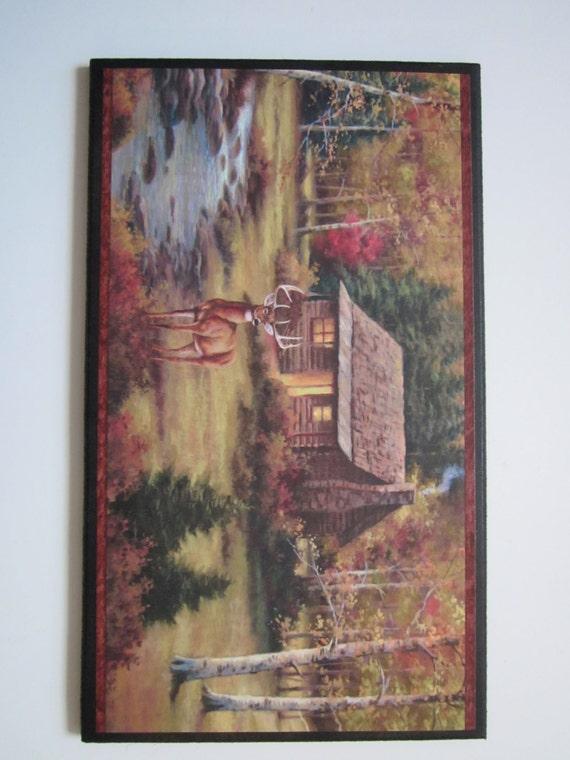 Rustic Cabin Wall Decor : Items similar to cabin deer wall decor plaque rustic