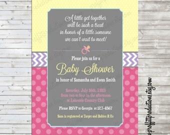 A little get together custom baby shower invitation - digital file