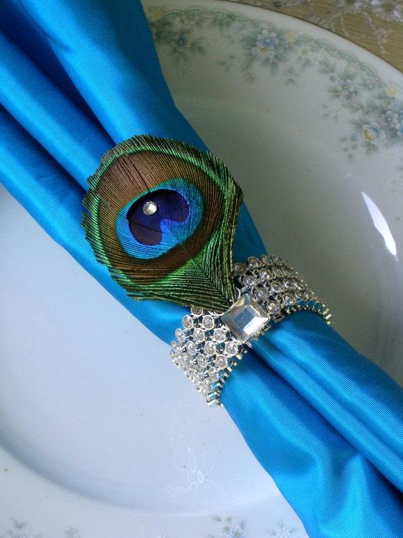 Items Similar To 4 Four Weddings Swarovski Crystal Peacock