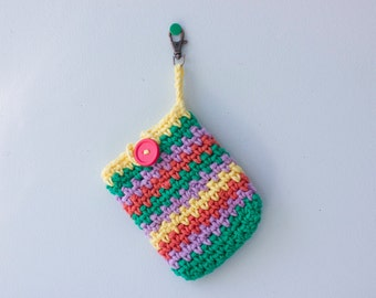 Crocheted  Cotton Phone Case, Chevron Cell Phone Cover, Neon Stocking Stuffer