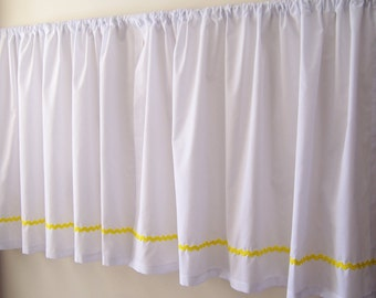 Cafe Curtains with Choice of Rick Rack Trim