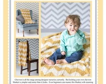 Chevron Baby Blanket Pattern PDF