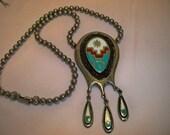 Vintage Southwestern Native Indian Style Pendant Necklace