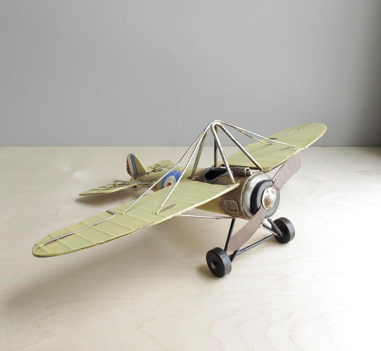 Vintage Metal Toy Airplane