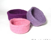 3 Felt Bowls knitting pattern