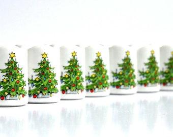 Vintage Christmas- Tree 10  Candle Light Holder-Germany