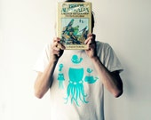 Screen printed adults T-shirt - Birds islands