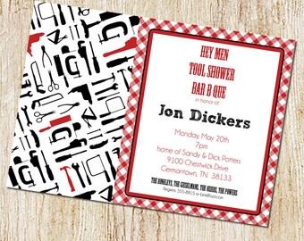 tool shower invitation- couples shower invitation- Digial File, print yourself - honey do shower