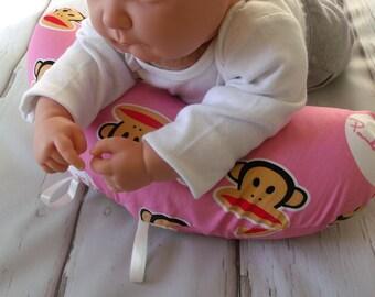 Organic Tummy Time Pillow, Sock Monkies