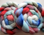 Rip Tide -  Merino Roving (Top) - Handpainted Wool Spinning or Felting Fiber - 4 ounces