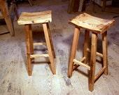 Reclaimed Wood Saddle Stools
