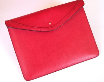 Leather iPad 3 or iPad 4 Case - Red Top-Grain Leather