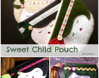 Sweet Child Zipper Pouch Pattern -Instant Download-able PDF Pattern File