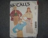 McCalls Shirt Pattern 6689 Size 24 Bust 46 NEW UNcut