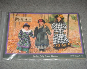 Garden Party Dress Collection K P Kids and Co Sizes 1 through 10 NEW Uncut Pattern