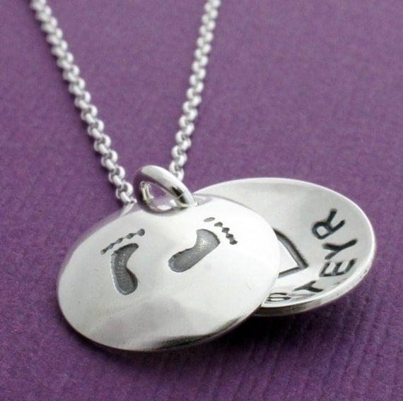 Locket Jewelry - Engraved Necklace for Mom - Personalized Sterling Silver Charm with Name, Initial, Monogram or Date