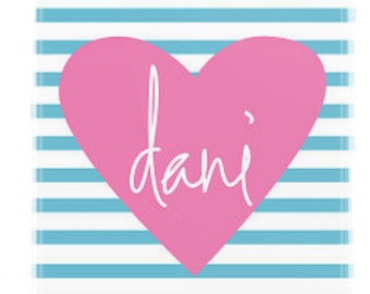 Personalized chevron with ribbon