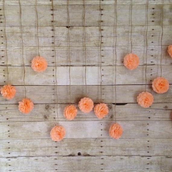 DIY Peach Tissue Paper Flower Wedding Garland Kit By Giddy4paisley